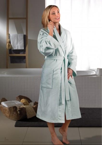 Luxuriöser Bademantel mit Schalkragen von Villeroy & Boch, Farbe Aqua