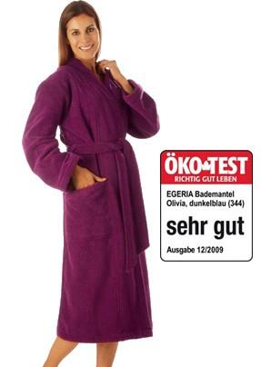 Bademantel Olivia, Damen Kimono ,Farbe Cassis von Egeria