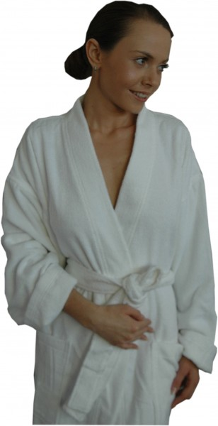 Kimono Bademantel in Weiß, Unisex, von Naturawalk