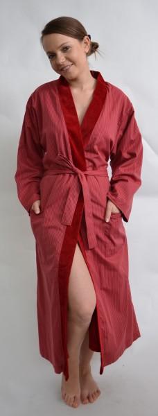 Doubleface Kimono Damenbademantel. Baumwolle der Luxus Qualität. Rot