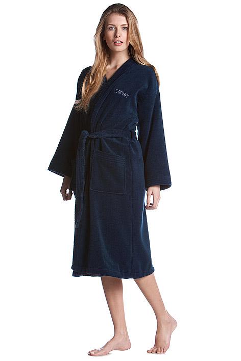 kimono bademantel f r sie und ihn esprit black damen bademantel badem ntel. Black Bedroom Furniture Sets. Home Design Ideas