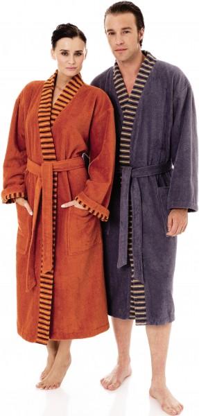 Bademantel für Damen und Herren, Kimonoschnitt, Partnerlook von Egeria