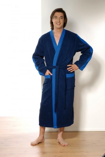 Herren bademantel kimono in marine, blau