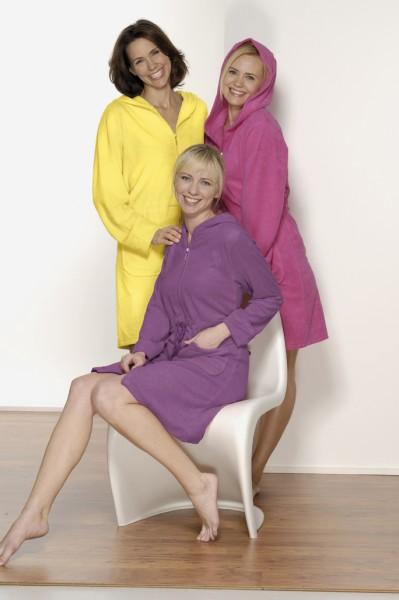 damen badejacke in gelb pflaume oder pink