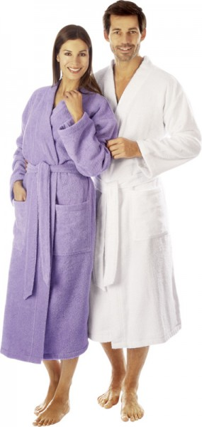 Bademantel Unisex in Kimono als Partnerlook