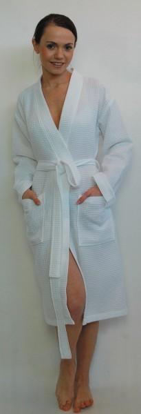 Kimono-Bademantel für Sie und Ihn in Weiss, Möve
