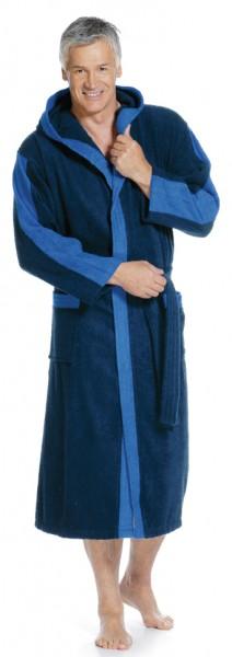 Bademantel mit Kapuze marine, blau