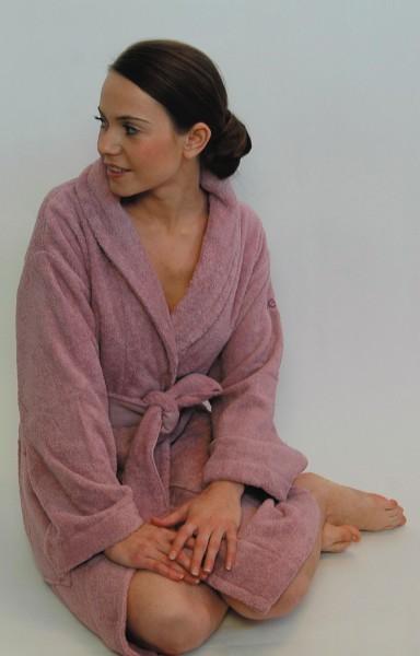 Damenbademantel in lila von mexx