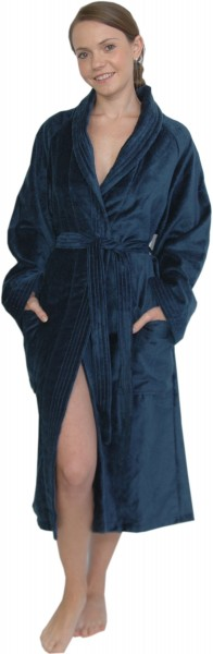 Bademantel aus hochwertiger Baumwolle, Ozean Blau, von Villeroy & Boch