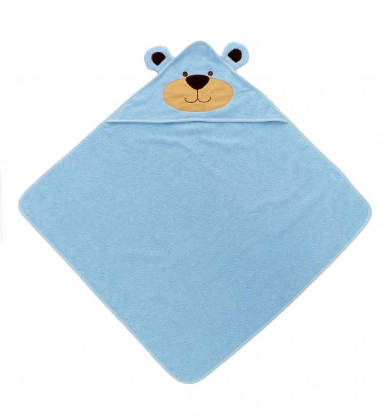 Baby Badetuch mit Kapuze  Bear blau