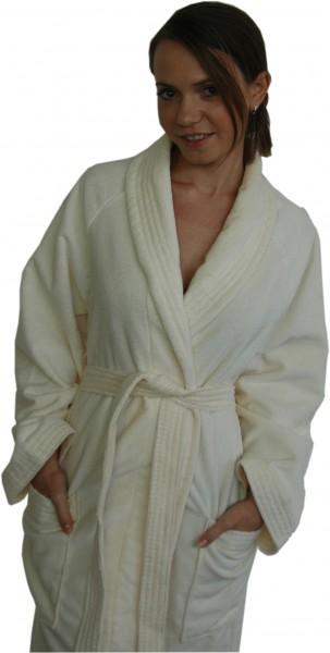 Damen und Herrenbademantel von Villeroy & Boch aus hochwertiger Baumwolle, Top Qualität, in creme weiss