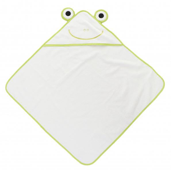 Baby badetuch mit Kapuze Frosch