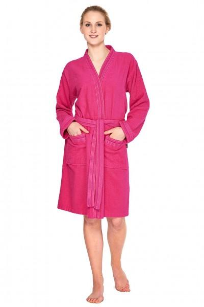 Kimono Damen bademantel in pink