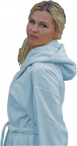 Damen Bademantel in Alaska Blau