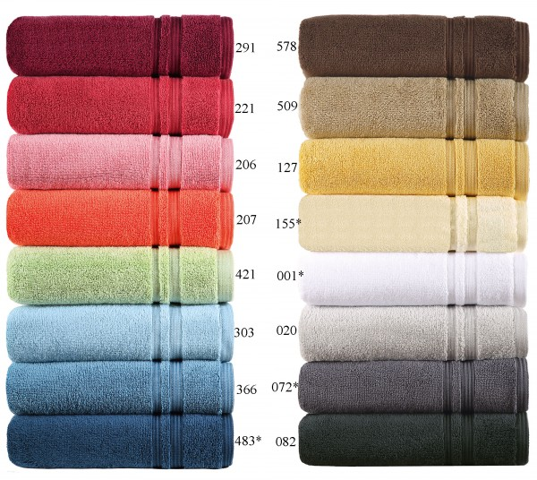 Handtücher Serie manhatten in 16 Farben