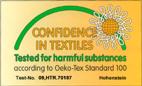 Zertifikat Öko Tex 100 - Schadstoff geprüfte Bademäntel und Handtücher
